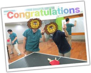 卓球大会優勝!
