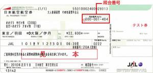現在の航空券