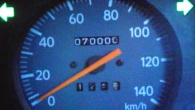 70,000キロ